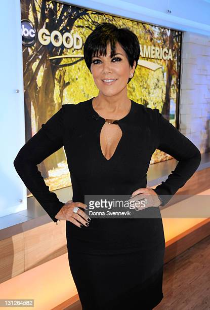 """Kris Jenner talks about her new book and daughter Kim Kardashian's divorce on """"Good Morning America,"""" 11/3/11, airing on the Walt Disney Television..."""