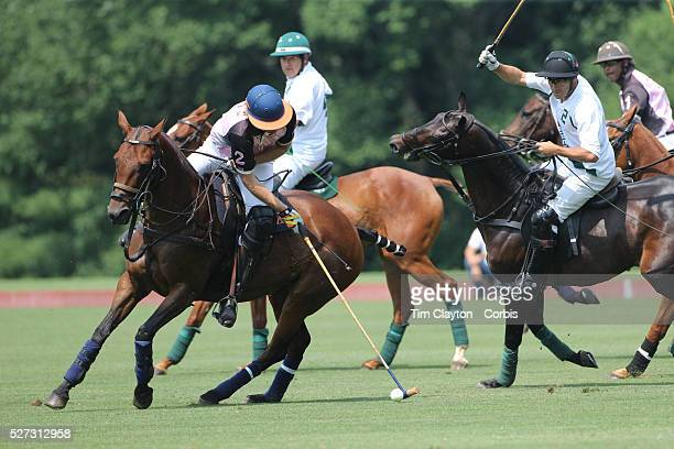 Kris Kampsen KIG in action during the White Birch Vs KIG Polo match in the Butler Handicap Tournament match at the Greenwich Polo Club White Birch...