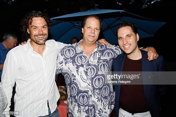 Kris King Jamie Rose and Jeff Prosserman attend Livestage Summer Splash For the Love of Music Launch Event on July 26 2014 in East Hampton New York