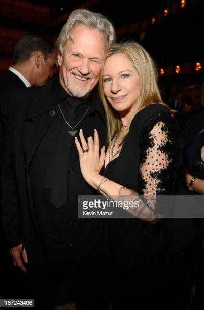 Kris Kristofferson and Barbra Streisand attend the 40th Anniversary Chaplin Award Gala at David Koch Theatre at Lincoln Center on April 22 2013 in...