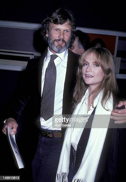 Kris Kristofferson and Isabelle Huppert attend the premiere of Heaven's Gate on November 18 1980 at Cinema I in New York City