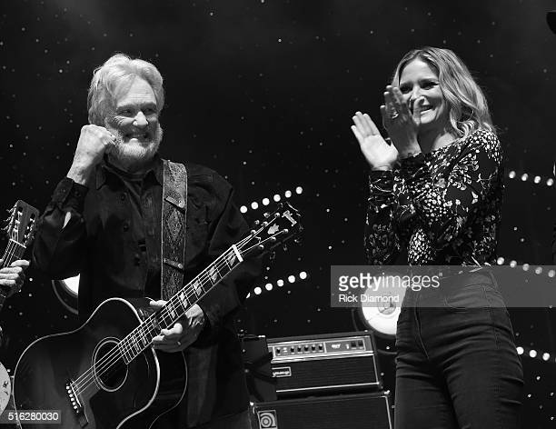 Kris Kristofferson and Jennifer Nettles perform at The Life Songs of Kris Kristofferson produced by Blackbird Presents at Bridgestone Arena on March...