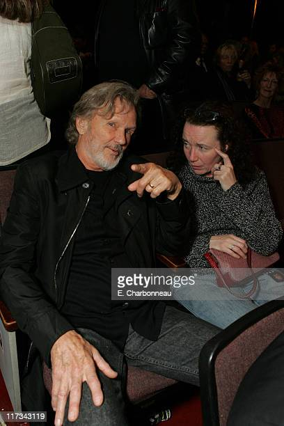 Kris Kristofferson and Lisa Meyers during 20th Century Fox New York City Premiere of Walk The Line at Beacon Theater in New York City New York United...