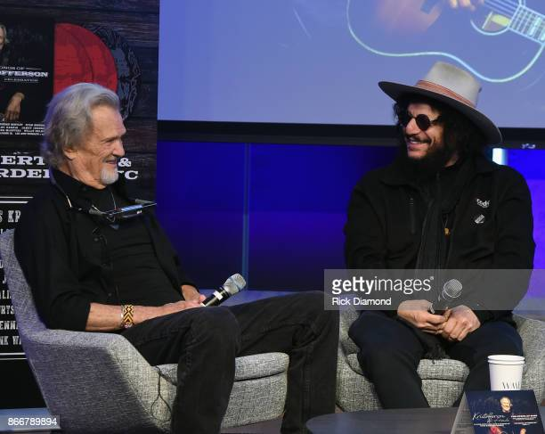 Kris Kristofferson and Recording Artist/Producer Don Was attend A Look Into The Life Songs Of Kris Kristofferson at The Steps at WME on October 26...