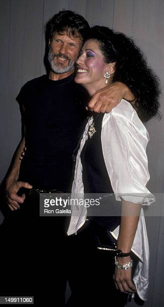Kris Kristofferson and Rita Coolidge attend Welcome Home Vets Benefit Concerty Party on February 24 1986 at the Forum in Los Angeles California