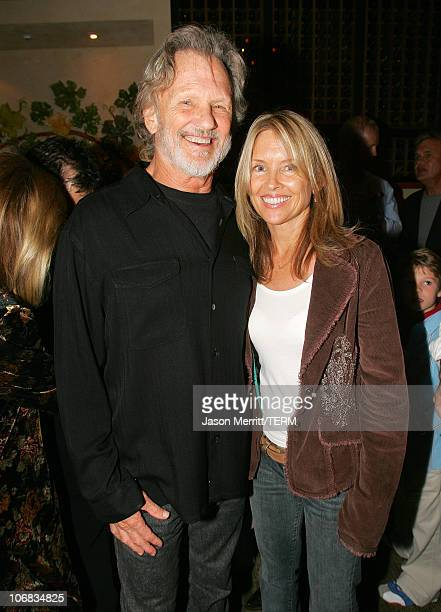 Kris Kristofferson and wife during Dreamworks Pictures' 'Dreamer Inspired By A True Story' Los Angeles Premiere After Party at The Napa Valley Grill...