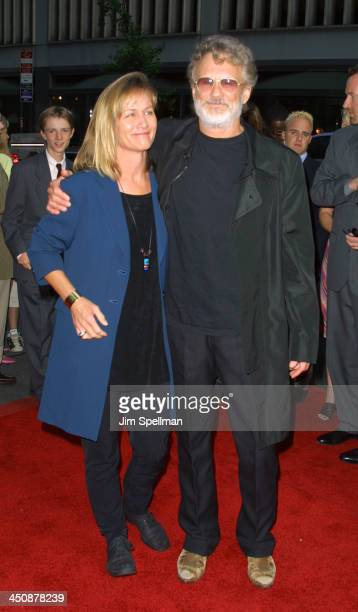 Kris Kristofferson and wife during Planet of the Apes New York Premiere at Ziegfeld Theater in New York City New York United States
