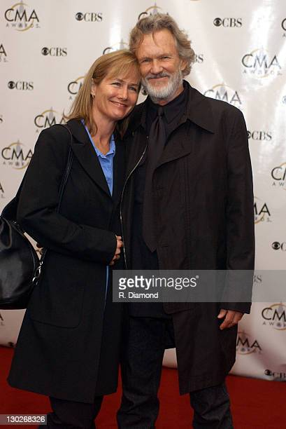 Kris Kristofferson and wife Lisa during 37th Annual CMA Awards Arrivals at The Grand Ole Opry in Nashville TN United States