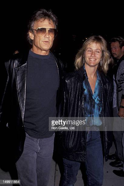 Kris Kristofferson and wife Lisa Meyers attend the opening of Brooklyn Laundry on May 3 1991 at the Coronet Theater in West Hollywood California