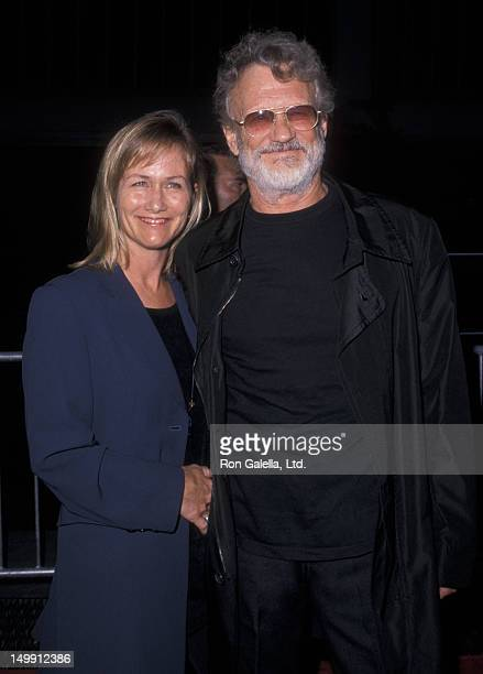 Kris Kristofferson and wife Lisa Meyers attend the premiere of Planet of the Apes on July 23 2001 at the Ziegfeld Theater in New York City
