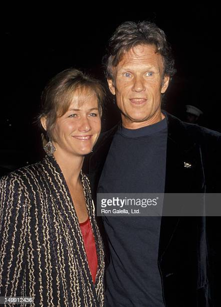 Kris Kristofferson and wife Lisa Meyers on March 31 1990 at the Santa Monica Beach Hotel in Santa Monica California