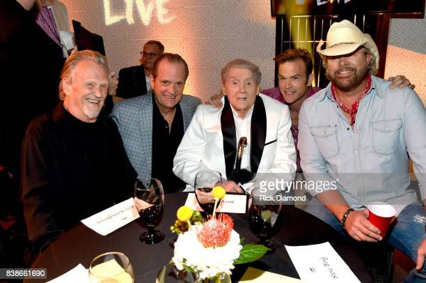 Kris Kristofferson creator of Skyville Live Wally Wilson Jerry Lee Lewis Waylon Payne and Toby Keith attend Skyville Live Presents a Tribute to Jerry...