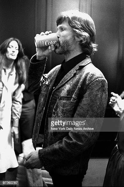 Kris Kristofferson has a Coke backstage before he and wife Rita Coolidge perform one of two soldout shows at Radio City Music Hall