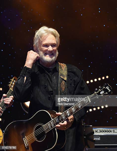 Kris Kristofferson performs at The Life Songs of Kris Kristofferson produced by Blackbird Presents at Bridgestone Arena on March 16 2016 in Nashville...