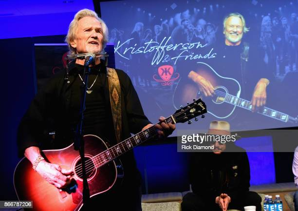 Kris Kristofferson performs during A Look Into The Life Songs Of Kris Kristofferson on The Steps at WME on October 26 2017 in Nashville Tennessee