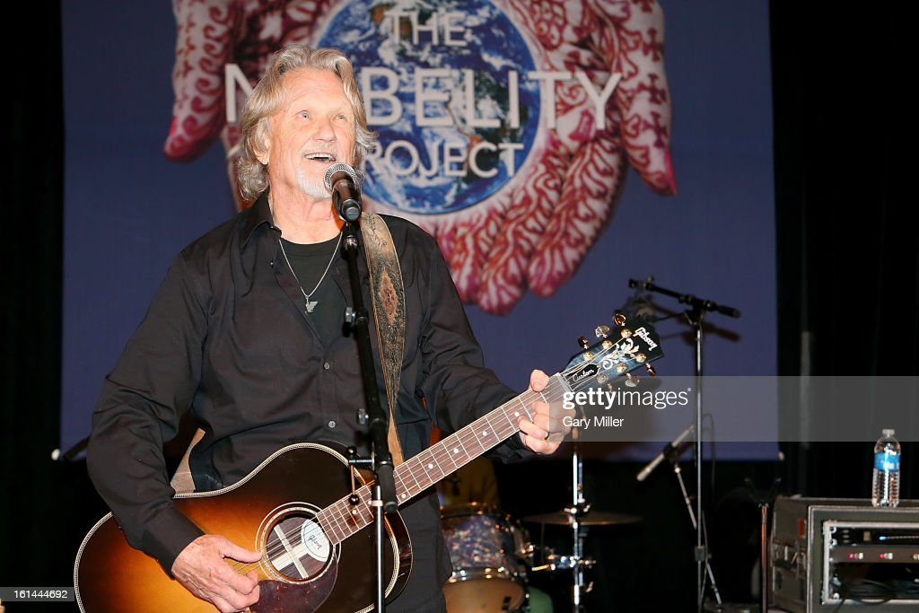 Kris Kristofferson performs in concert during the Nobelity Projects Artists and Filmmakers Dinner honoring Kris Kristofferson at the Four Seasons Hotel on February 10, 2013 in Austin, Texas.