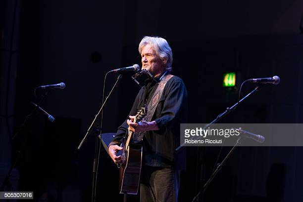 Kris Kristofferson performs on stage at The Queen's Hall on January 16 2016 in Edinburgh Scotland