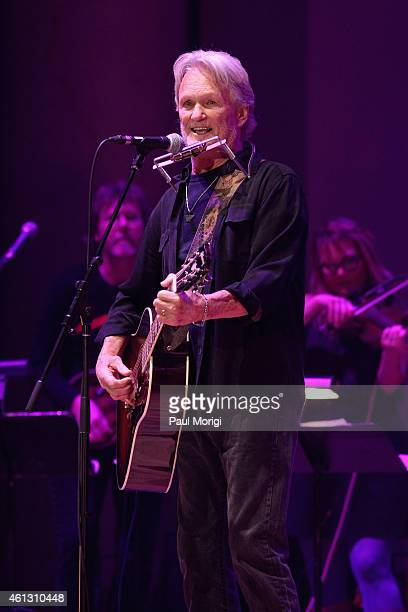 Kris Kristofferson performs on stage during The Life Songs of Emmylou Harris An All Star Concert Celebration at DAR Constitution Hall on January 10...