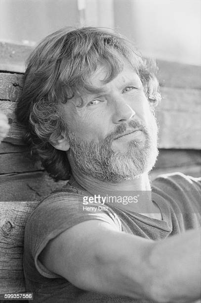 Kris Kristofferson rests against a house at Caribou Ranch a farm near Boulder Colorado The country musician is at the ranch as part of a photo shoot...