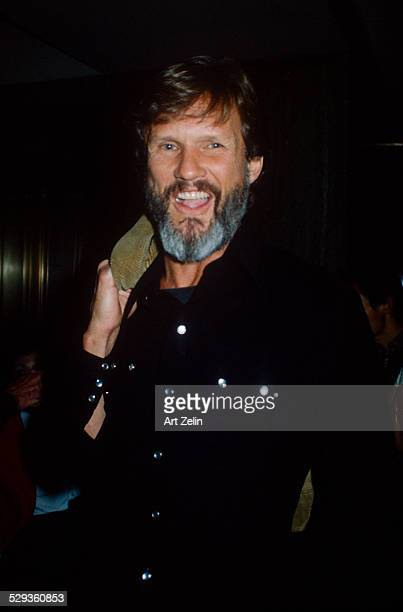 Kris Kristofferson smiling wearing a black western shirt circa 1970 New York