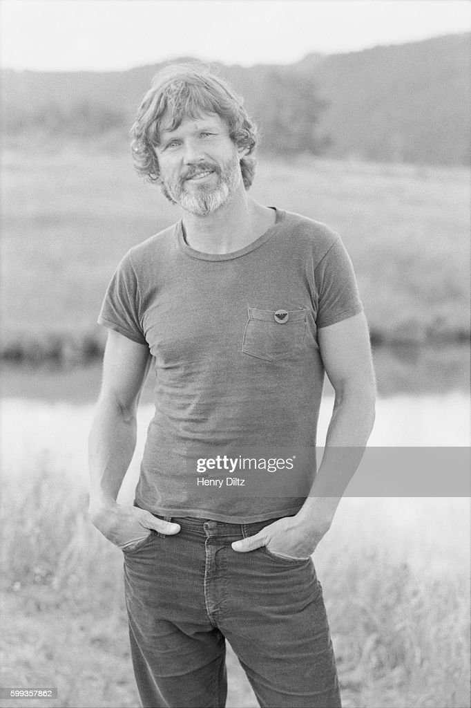 Kris Kristofferson stands alongside a pond at Caribou Ranch, a farm near Boulder, Colorado. The country musician is at the ranch as part of a photo shoot for his upcoming album, To the Bone. | Location: near Boulder, Colorado, USA.