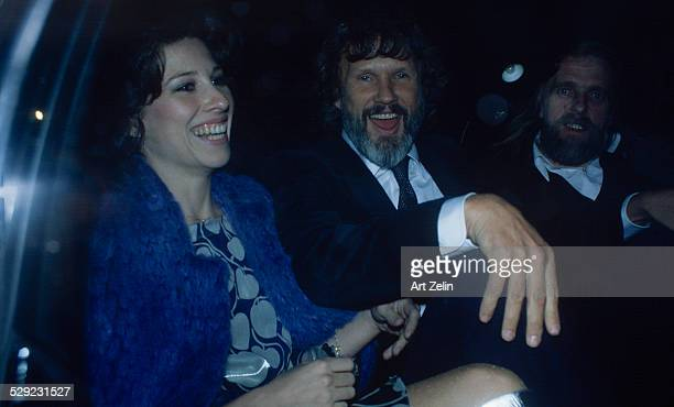 Kris Kristofferson with friends in a limousine circa 1970 New York