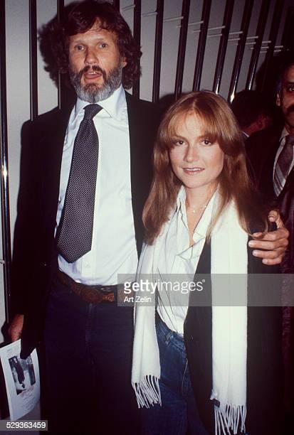 Kris Kristofferson with Isabelle Huppert circa 1970 New York