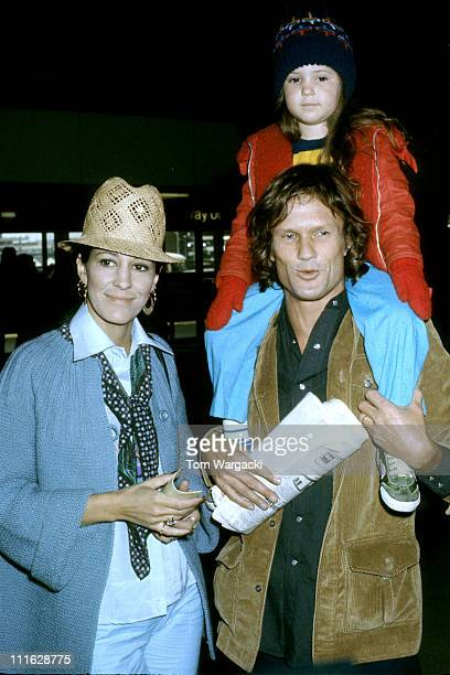 Kris Kristofferson with wife Rita Coolidge and daughter Casey at Heathrow Airport