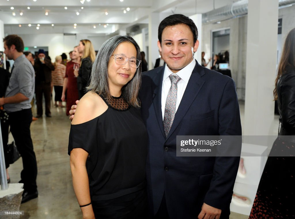 Kris Kuramitsu and Cesar Garcia attend The Mistake Room's Benefit Auction on October 13, 2013 in Los Angeles, California.