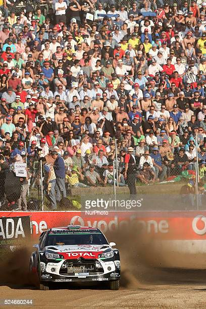 Kris Meeke and Paul Nagle in Citroen DS3 WRC of team Citroen Total Abu Dhabi WRT in action during the SS1 Lousada of WRC Vodafone Rally Portugal 2015...