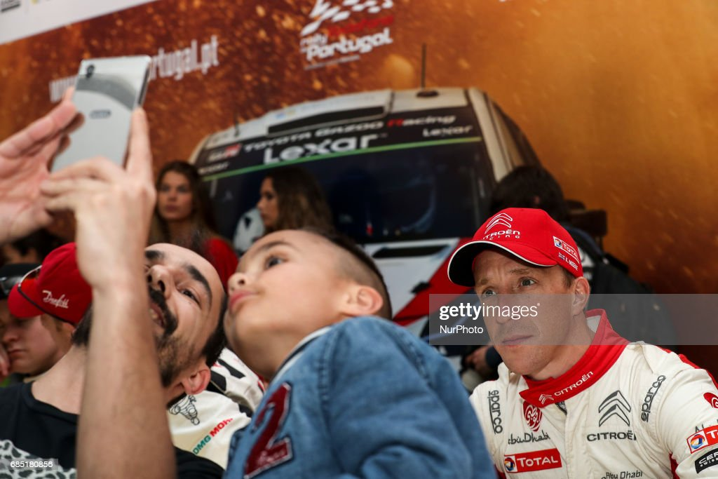 Kris Meeke during the autograph session of WRC Vodafone Rally de Portugal 2017, at Matosinhos in Portugal on May 18, 2017.