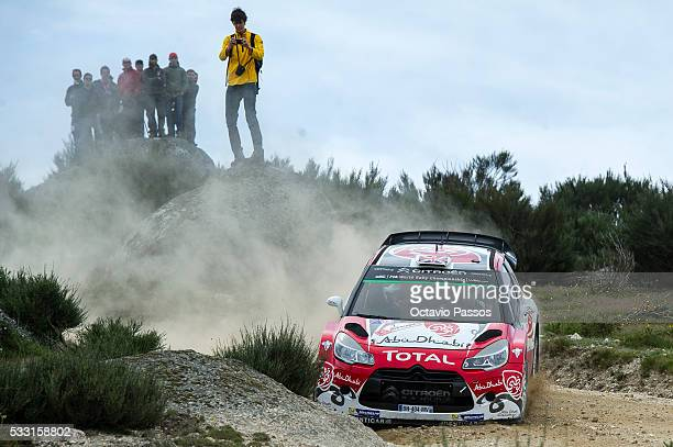 Kris Meeke of Great Britain and Paul Nagle of Ireland compete in their Abu Dhabi Total WRT Citroen DS3 WRC during the SS11 Marao of the WRC Portugal...
