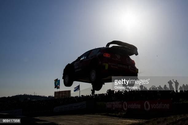 Kris Meeke of Great Britain and Paul Nagle of Ireland compete in their Citroen Total Abu Dhabi WRT Citroen C3 WRC during the shakedown of the WRC...