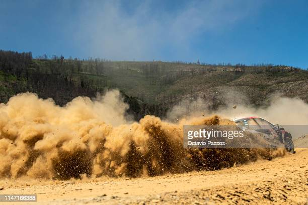 Kris Meeke of Great Britain and Sebastian Marshall of Great Britain compete with their Toyota Gazoo Racing WRT Toyota Yaris WRC during the Special...