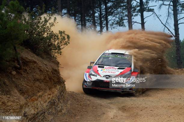 Kris Meeke of Great Britain and Sebastian Marshall of Great Britain compete with their Toyota Gazoo Racing WRT Toyota Yaris WRC during Day One of the...