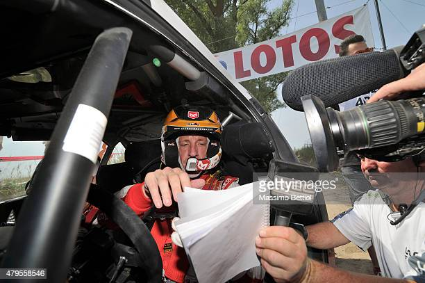Kris Meeke of Great Britain during Day Three of the WRC Poland on July 5 2015 in Mikolajki Poland