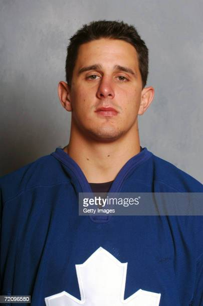 Kris Newbury of the Toronto Maple Leafs poses for a portrait at Ricoh Coliseum on September 14 2006 in Toronto Ontario Canada
