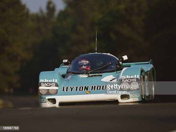 Kris Nissen of Denmark drives the Leyton House Kremer Racing Porsche 962 C during practice for the FIA World Sportscar Championship 24 Hours of Le...