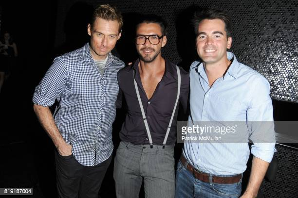 Kris Norman Lorenzo Martone and Andrew Freesmeier attend THE CINEMA SOCIETY 2IST host the after party for 'TWELVE' at at the Standard Hotel on July...