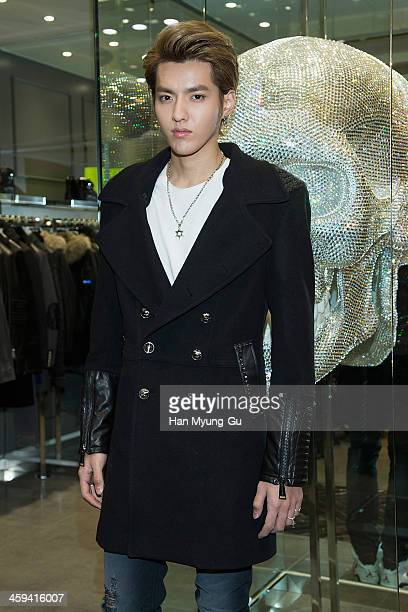 Kris of boy band EXOM attends 'Philipp Plein' Lotte Avenuel Store Opening at the Lotte Avenuel on December 26 2013 in Seoul South Korea