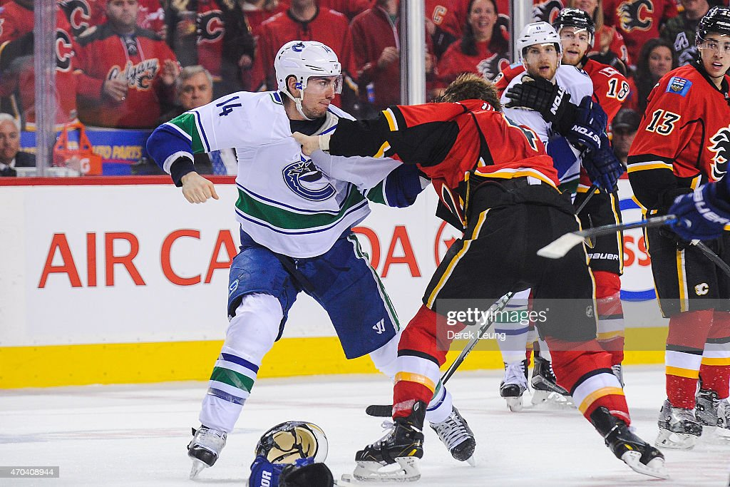 Vancouver Canucks v Calgary Flames - Game Three : News Photo