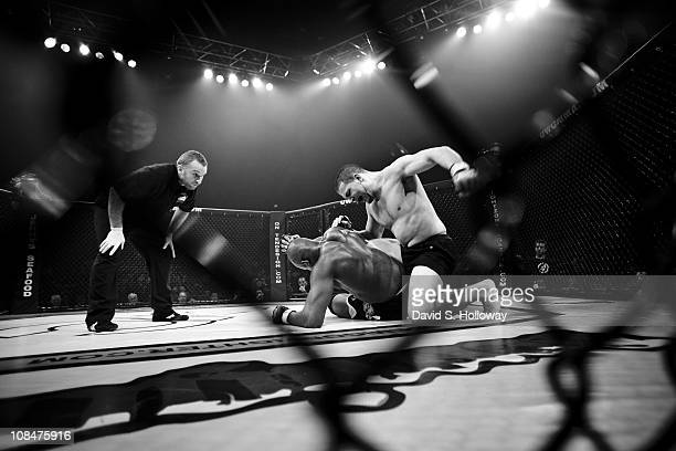 """Kris """"Savage"""" McCray fights Manny Okorie at UWC 5, Man 'O' War Extreme Cage Fighting at the George Mason University Patriot Center in Fairfax,..."""