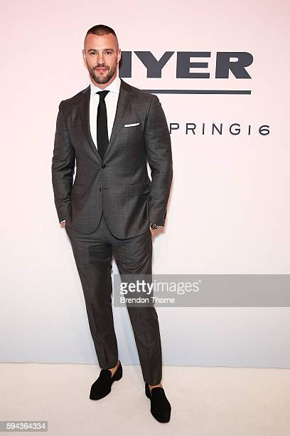 Kris Smith arrives ahead of the Myer Spring 16 Fashion Launch at Hordern Pavilion on August 23 2016 in Sydney Australia