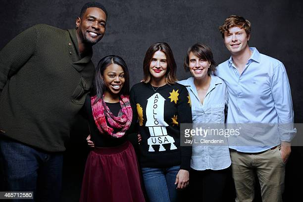 Kris Swanberg Anders Holm Chris Webber and Cobie Smulders and Gail Bean pose for a portrait for the Los Angeles Times at the 2015 Sundance Film...