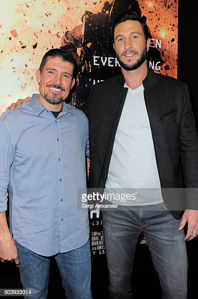 Kris ÒTantoÓ Paronto and Pablo Schreiber attend Miami Special Screening of '13 Hours The Secret Soldiers of Benghazi ' at Aventura Mall on January 7...