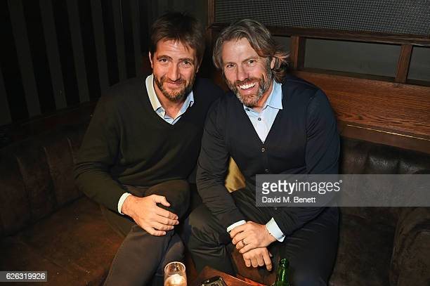 Kris Thykier and John Bishop attend an after party following the World Premiere of 'I Am Bolt' at Tape London on November 28 2016 in London England