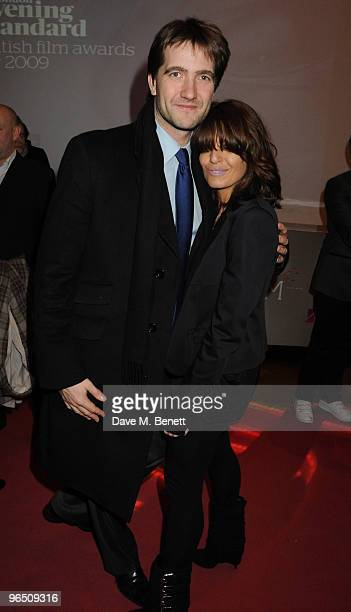 Kris Tykier and Claudia Winkleman attend the London Evening Standard British Film Awards 2010 at The London Film Museum on February 8 2010 in London...