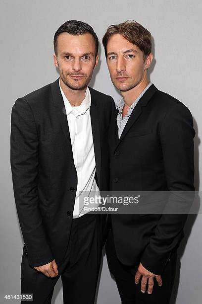 Kris Van Assche and Benn Northover attend the Dior Homme show as part of the Paris Fashion Week Menswear Spring/Summer 2015 on June 28 2014 in Paris...