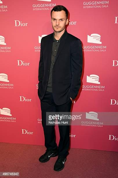 Kris Van Assche Dior attends the 2015 Guggenheim International Gala PreParty made possible by Dior at Solomon R Guggenheim Museum on November 4 2015...