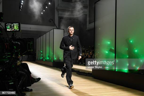 Kris van Assche walks the runway during the Dior Homme Menswear Fall/Winter 20182019 show as part of Paris Fashion Week on January 20 2018 in Paris...